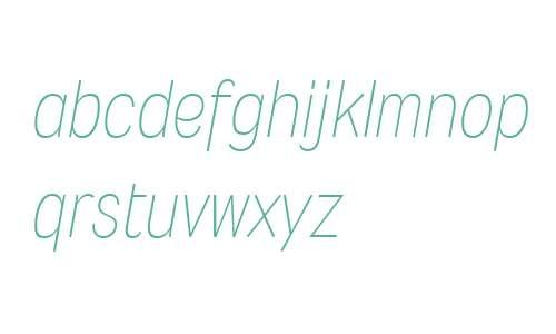 Wyvern W00 ExtraLight Italic