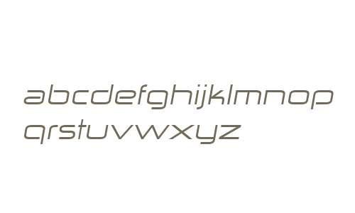 Zekton W00 Extended Italic