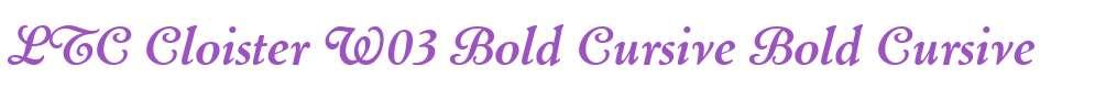 LTC Cloister W03 Bold Cursive