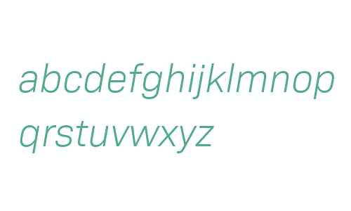 Bio Sans W04 Light Italic