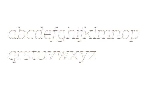Prelo Slab W04 Hairline Italic