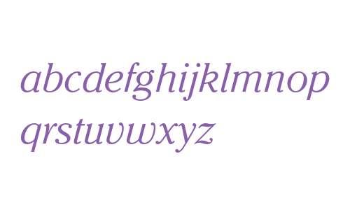 ITC Cheltenham Std Light Italic