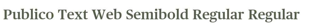 Publico Text Web Semibold Regular