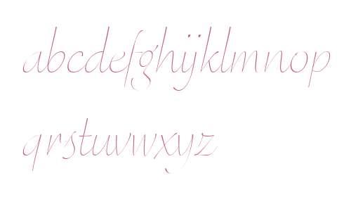 Eggo OT W03 Thin Italic