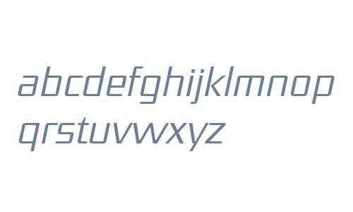 District OT W03 Light Italic