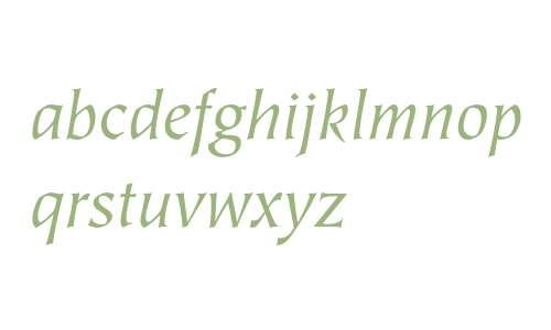 ITC Tiepolo Book Italic