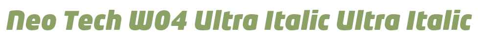 Neo Tech W04 Ultra Italic