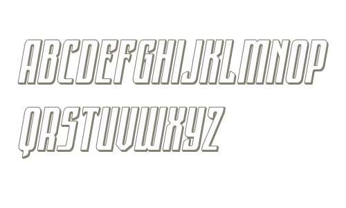 Night Traveler 3D Italic
