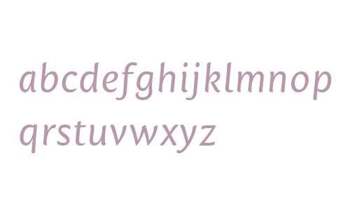 Mantika Sans W06 Italic