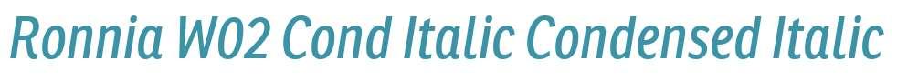 Ronnia W02 Cond Italic