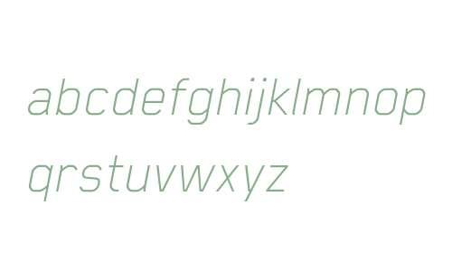 Blender Pro Thin Italic