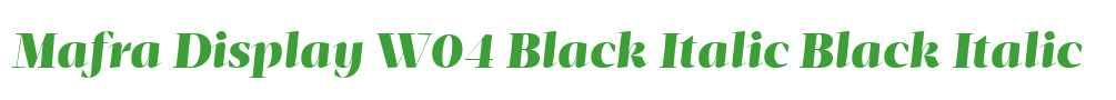 Mafra Display W04 Black Italic