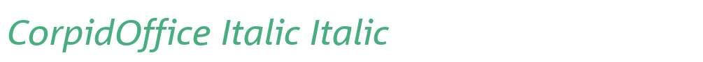 CorpidOffice Italic