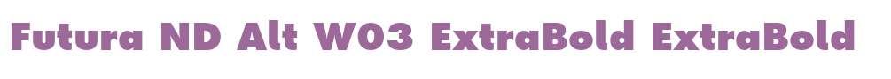 Futura ND Alt W03 ExtraBold