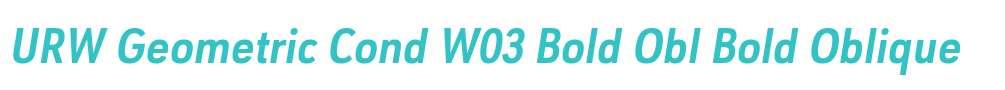 URW Geometric Cond W03 Bold Obl