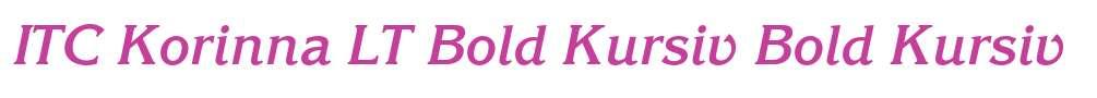 ITC Korinna LT Bold Kursiv