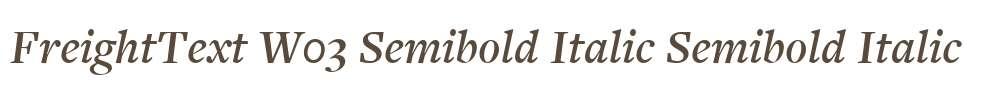 FreightText W03 Semibold Italic