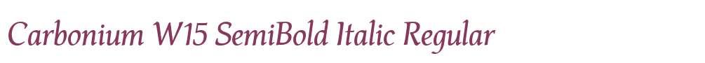 Carbonium W15 SemiBold Italic