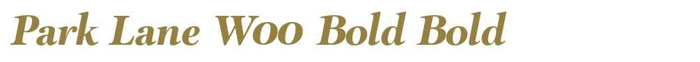 Park Lane W00 Bold