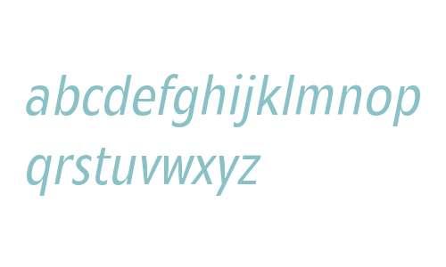 Mensa Condensed W01 Book Italic