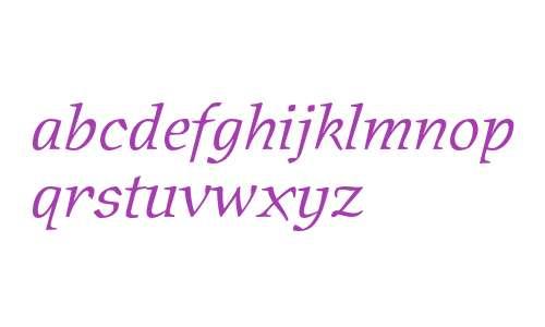 Oldrichium ITC Std Light Italic