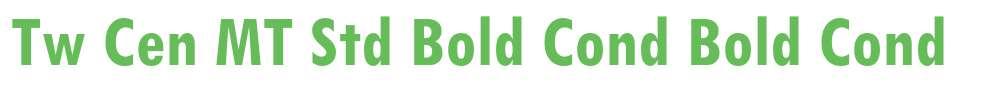 Tw Cen MT Std Bold Cond