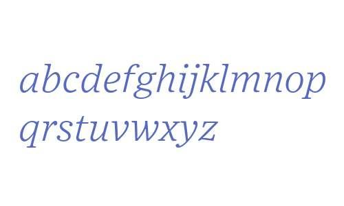 Exchange Light Italic
