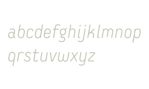 Extreme Sans W01 Light Italic