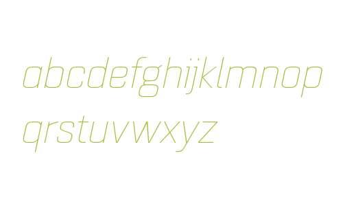 Quarca W01 Ext Thin Italic