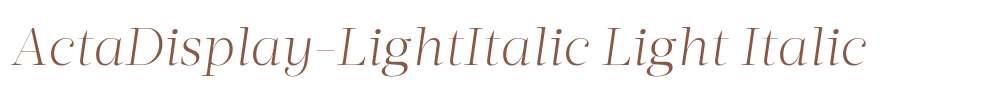 ActaDisplay-LightItalic