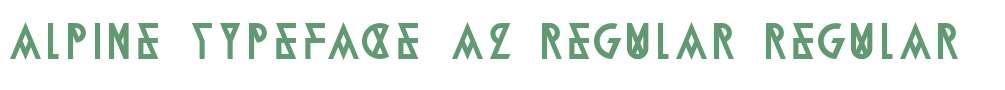 Alpine Typeface A2 Regular