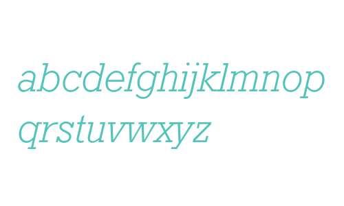 Geometric Slabserif 712 Light Italic
