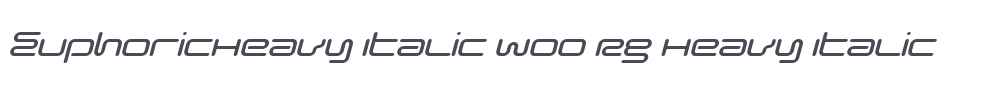 EuphoricHeavy Italic W00 Rg