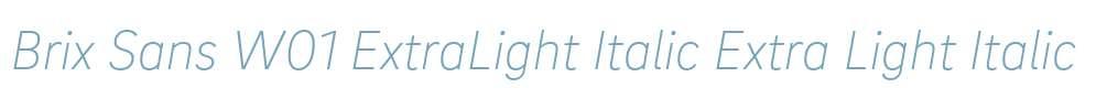 Brix Sans W01 ExtraLight Italic