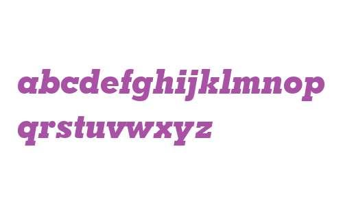 GeoSlab703 XBdIt BT Extra Bold Italic