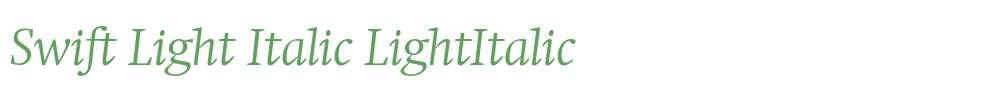 Swift Light Italic