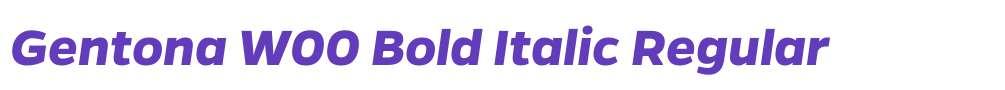 Gentona W00 Bold Italic