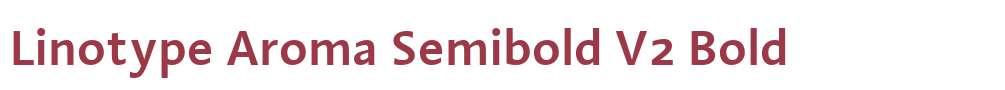 Linotype Aroma Semibold V2