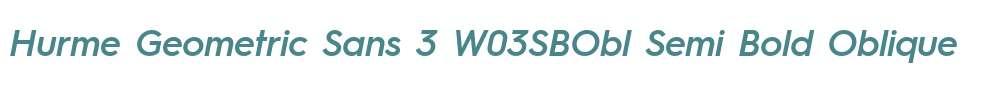 Hurme Geometric Sans 3 W03SBObl
