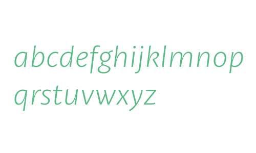 Petala W03 SemiLight Italic