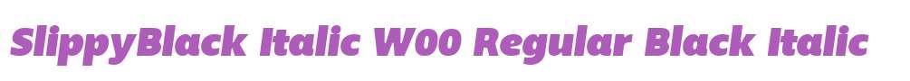 SlippyBlack Italic W00 Regular