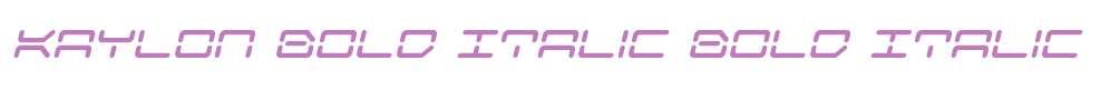 Kaylon Bold Italic