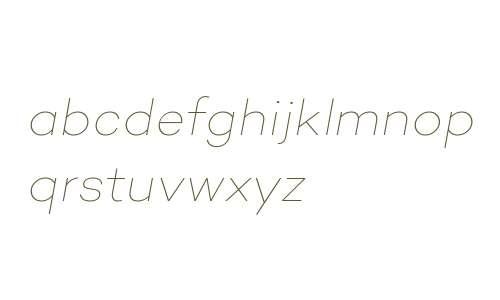 Campton Thin Italic