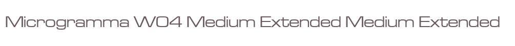 Microgramma W04 Medium Extended