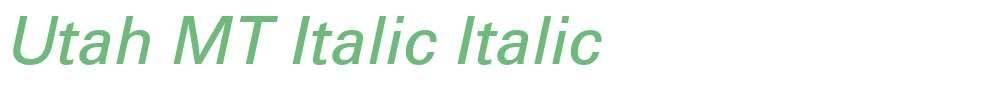 Utah MT Italic