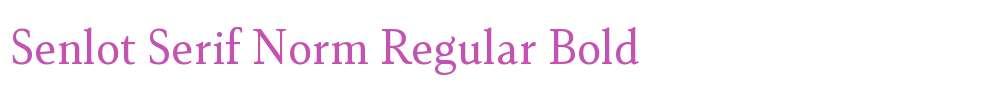 Senlot Serif Norm Regular