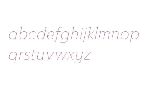 Ainslie W01 Norm Thin Italic V2