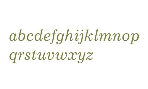 Excelsior EastA Italic