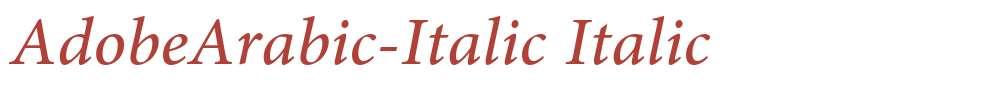 AdobeArabic-Italic