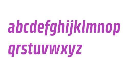 Klint W04 Bold Condensed Italic